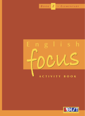 English Focus Activity Book 2 English Book Cover Front Page