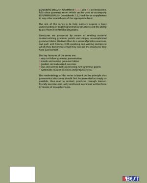 Exploring English Grammar 4 English Book Cover Back Page