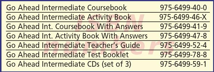Go Ahead Intermediate English Books ISBN Numbers