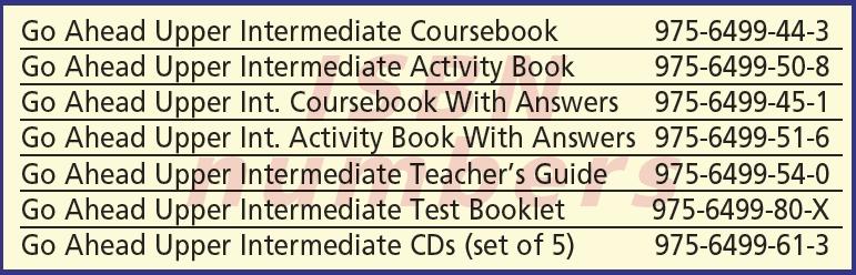Go Ahead Upper Intermediate English Books ISBN Numbers