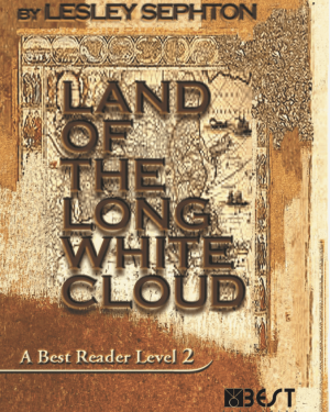 Ingilizce Kitap Land of The Long White Cloud English Reader Book Cover Front Page