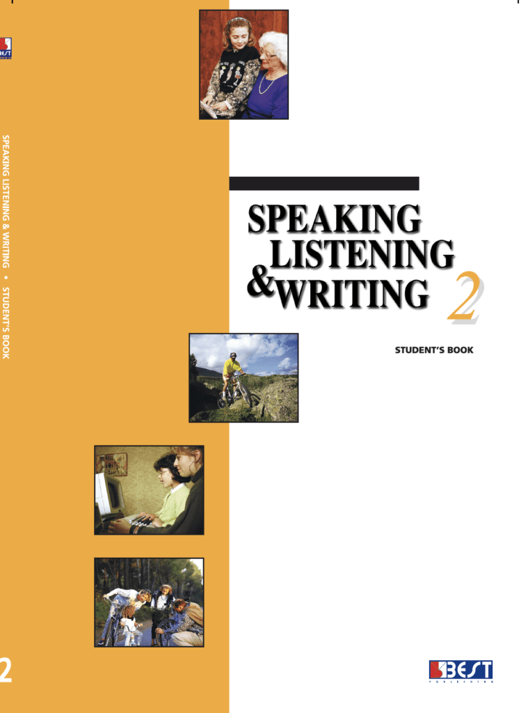Speaking Listening Writing 2 English Book Front Back Page