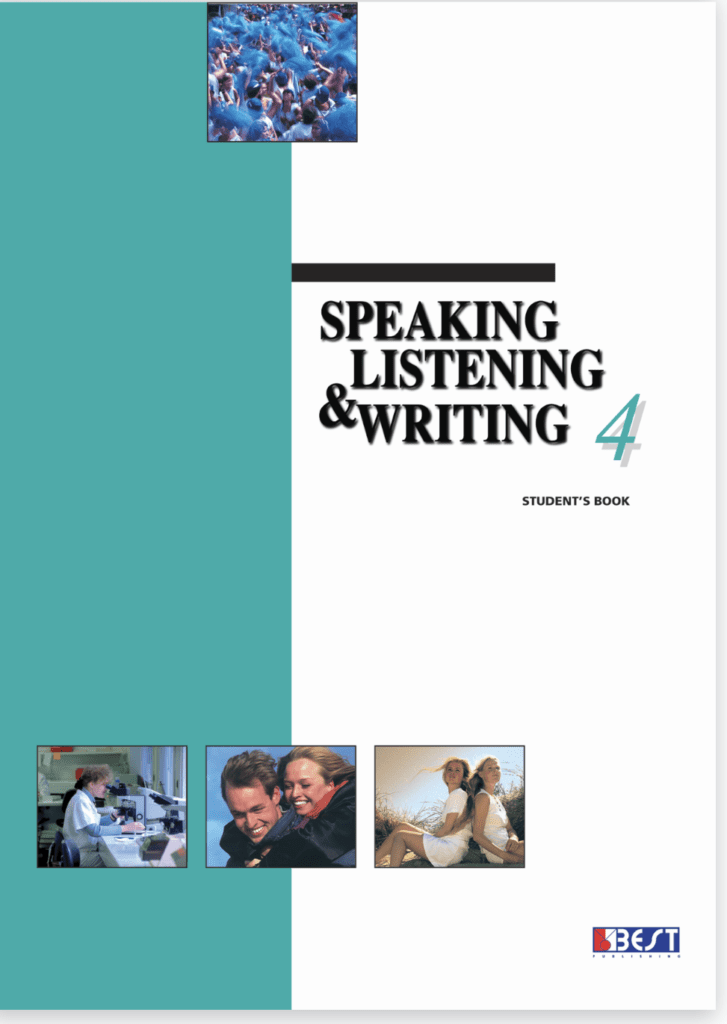 Speaking Listening Writing 4 English Book Front Page
