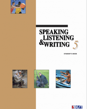 Speaking Listening Writing 5 English Book Front Page